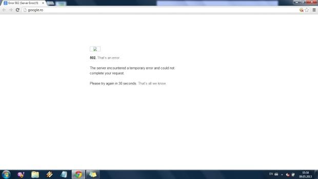 Google eror