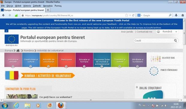 portal european de tineret