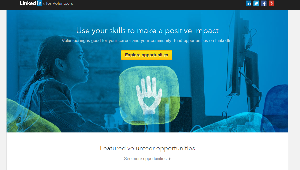 Voluntariat Linkedin